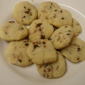 galletas de choco y naranja