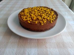 pastel choco y naranja 3